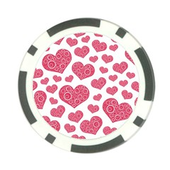 Heart Love Pink Back Poker Chip Card Guards (10 pack)