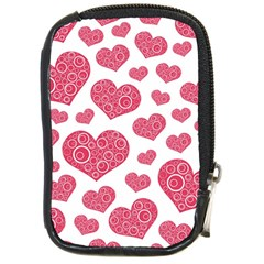 Heart Love Pink Back Compact Camera Cases