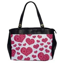 Heart Love Pink Back Office Handbags