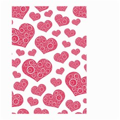 Heart Love Pink Back Small Garden Flag (Two Sides)