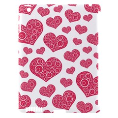 Heart Love Pink Back Apple iPad 3/4 Hardshell Case (Compatible with Smart Cover)