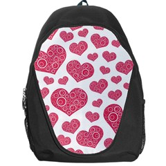 Heart Love Pink Back Backpack Bag