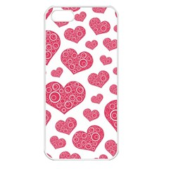 Heart Love Pink Back Apple iPhone 5 Seamless Case (White)