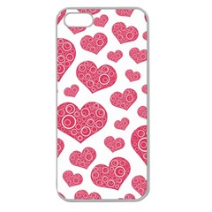 Heart Love Pink Back Apple Seamless iPhone 5 Case (Clear)