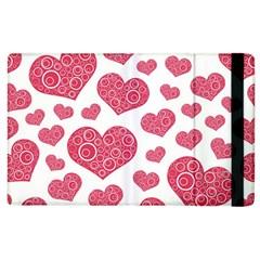 Heart Love Pink Back Apple iPad 2 Flip Case
