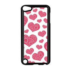 Heart Love Pink Back Apple iPod Touch 5 Case (Black)