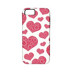Heart Love Pink Back Apple iPhone 5 Classic Hardshell Case (PC+Silicone)