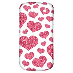 Heart Love Pink Back Samsung Galaxy S3 S III Classic Hardshell Back Case
