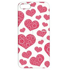 Heart Love Pink Back Apple iPhone 5 Hardshell Case with Stand