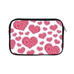 Heart Love Pink Back Apple iPad Mini Zipper Cases