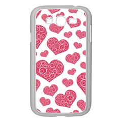 Heart Love Pink Back Samsung Galaxy Grand DUOS I9082 Case (White)