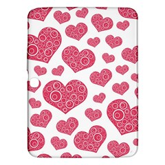 Heart Love Pink Back Samsung Galaxy Tab 3 (10.1 ) P5200 Hardshell Case