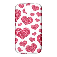 Heart Love Pink Back Samsung Galaxy S4 Classic Hardshell Case (PC+Silicone)