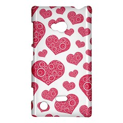 Heart Love Pink Back Nokia Lumia 720
