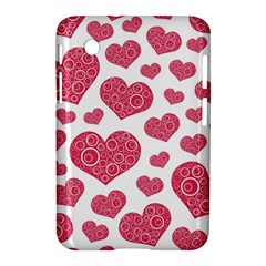 Heart Love Pink Back Samsung Galaxy Tab 2 (7 ) P3100 Hardshell Case