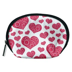 Heart Love Pink Back Accessory Pouches (Medium)