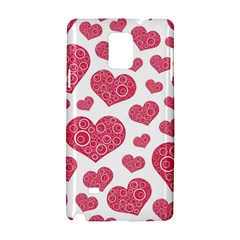 Heart Love Pink Back Samsung Galaxy Note 4 Hardshell Case