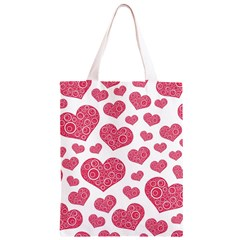 Heart Love Pink Back Classic Light Tote Bag