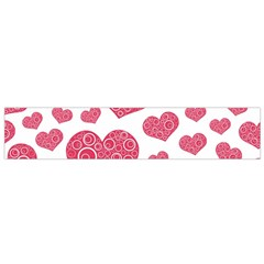 Heart Love Pink Back Flano Scarf (Small)