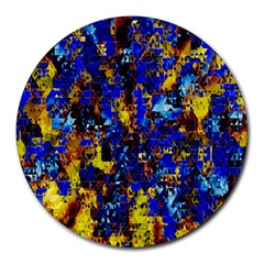 Network Blue Color Abstraction Round Mousepads