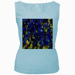 Network Blue Color Abstraction Women s Baby Blue Tank Top