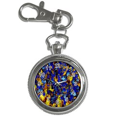 Network Blue Color Abstraction Key Chain Watches