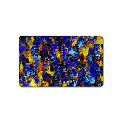 Network Blue Color Abstraction Magnet (Name Card)