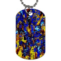 Network Blue Color Abstraction Dog Tag (Two Sides)