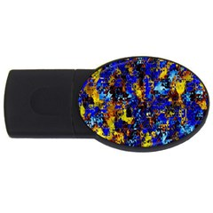 Network Blue Color Abstraction USB Flash Drive Oval (2 GB)