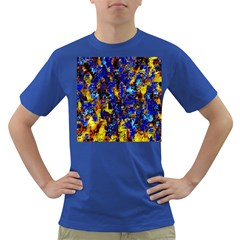 Network Blue Color Abstraction Dark T-Shirt