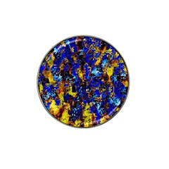 Network Blue Color Abstraction Hat Clip Ball Marker