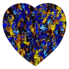 Network Blue Color Abstraction Jigsaw Puzzle (Heart)