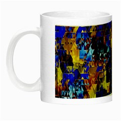 Network Blue Color Abstraction Night Luminous Mugs