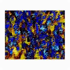Network Blue Color Abstraction Small Glasses Cloth