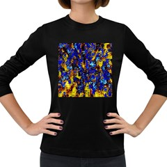 Network Blue Color Abstraction Women s Long Sleeve Dark T-Shirts