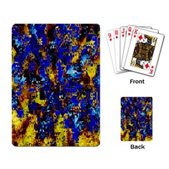 Network Blue Color Abstraction Playing Card