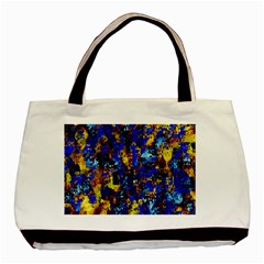 Network Blue Color Abstraction Basic Tote Bag (Two Sides)