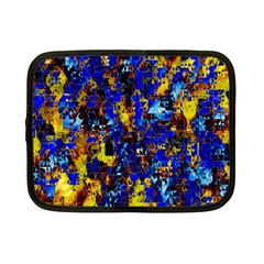 Network Blue Color Abstraction Netbook Case (Small)