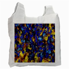 Network Blue Color Abstraction Recycle Bag (One Side)