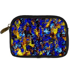 Network Blue Color Abstraction Digital Camera Cases