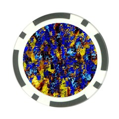 Network Blue Color Abstraction Poker Chip Card Guards (10 pack)