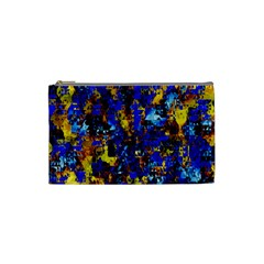 Network Blue Color Abstraction Cosmetic Bag (Small)