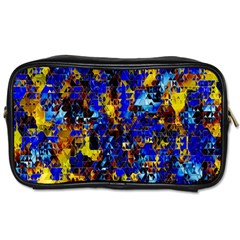 Network Blue Color Abstraction Toiletries Bags 2-Side
