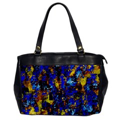 Network Blue Color Abstraction Office Handbags