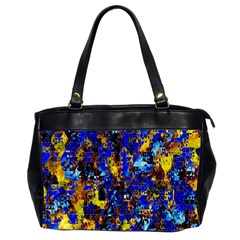 Network Blue Color Abstraction Office Handbags (2 Sides)