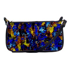 Network Blue Color Abstraction Shoulder Clutch Bags