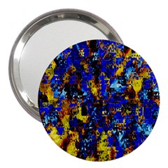 Network Blue Color Abstraction 3  Handbag Mirrors