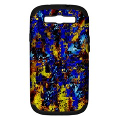 Network Blue Color Abstraction Samsung Galaxy S III Hardshell Case (PC+Silicone)