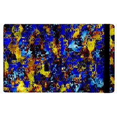 Network Blue Color Abstraction Apple iPad 3/4 Flip Case