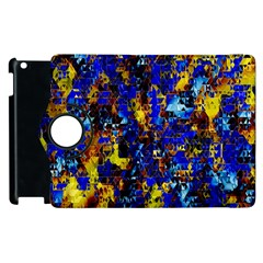 Network Blue Color Abstraction Apple iPad 3/4 Flip 360 Case